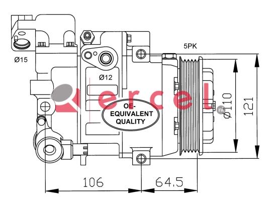 Airco compressor MBK 014