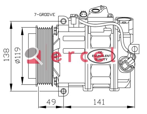 Airco compressor MBK 032