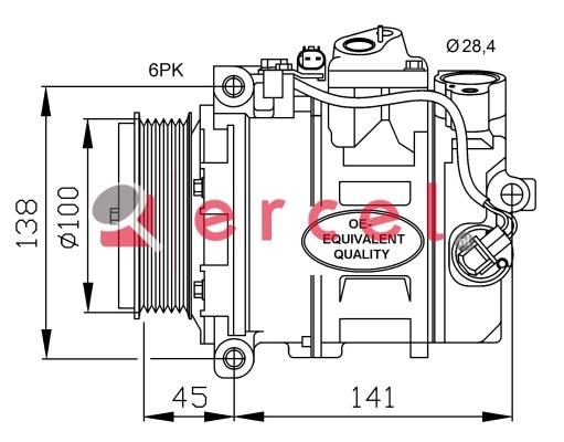 Airco compressor MBK 020