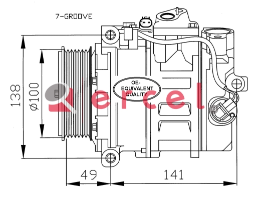 Airco compressor MBK 033