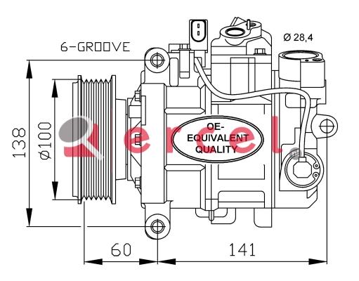 Airco compressor AUK 044