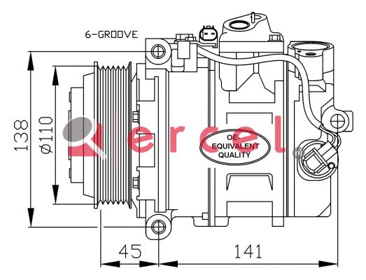 Airco compressor MBK 081