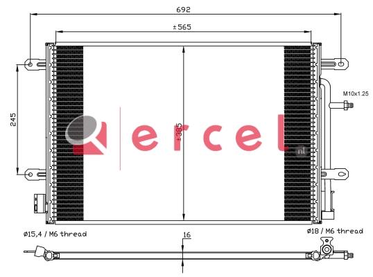 Airco condensor AUC 564