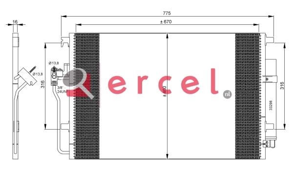 Airco condensor MBC 547