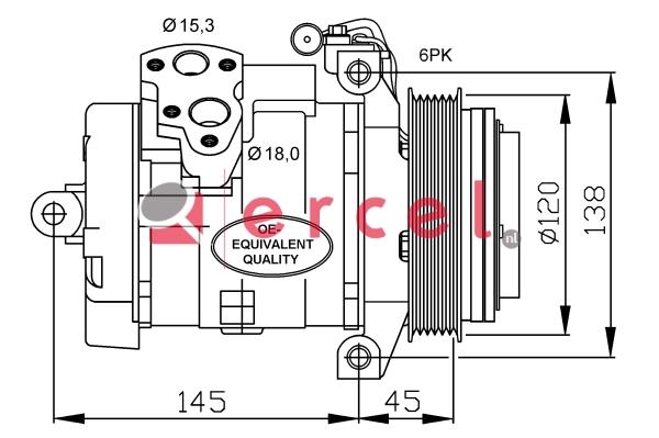 Airco compressor MBK 082