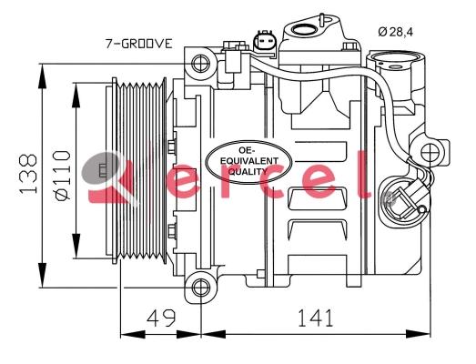 Airco compressor MBK 102