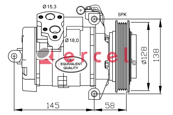 Airco compressor MBK 080