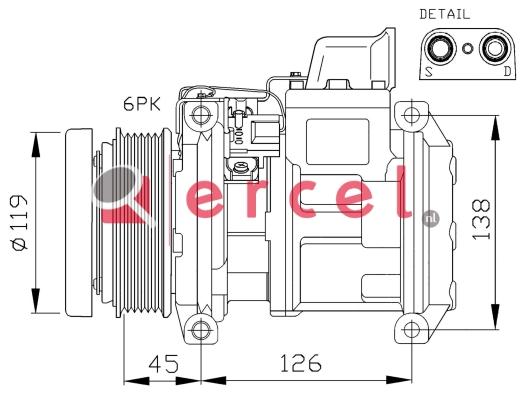 Airco compressor MBK 039