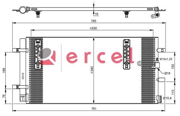 Airco condensor AUC 574