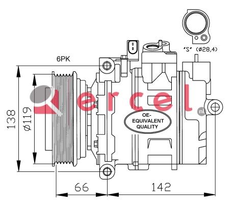 Airco compressor AUK 004