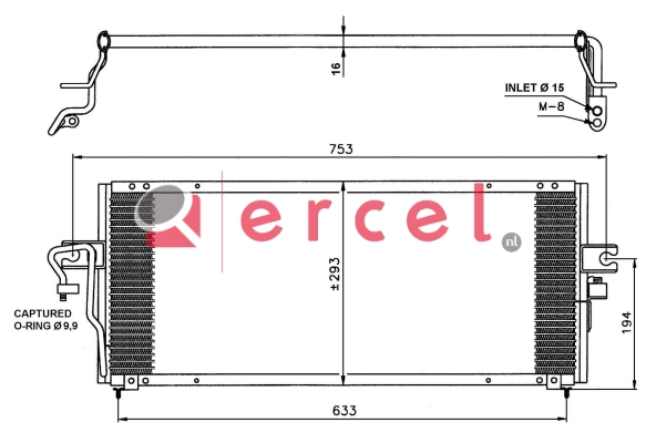 Airco condensor NIC 526