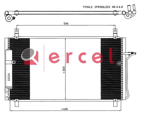 Airco condensor NIC 519