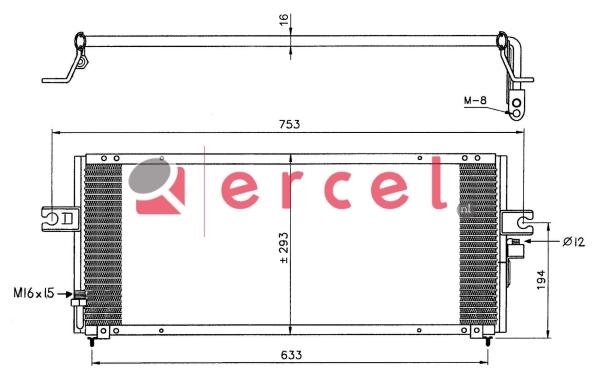 Airco condensor NIC 520