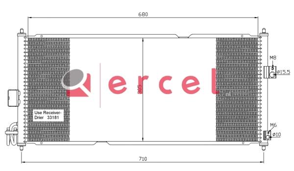 Airco condensor NIC 558