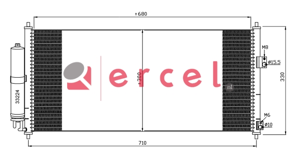 Airco condensor NIC 572