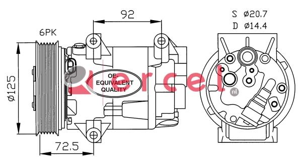 Airco compressor REK 050