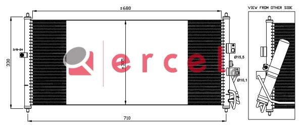 Airco condensor NIC 578