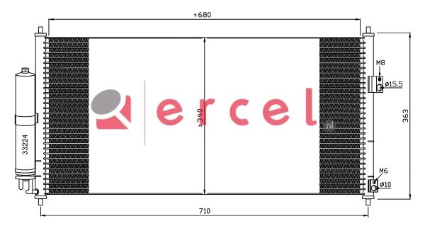 Airco condensor NIC 586