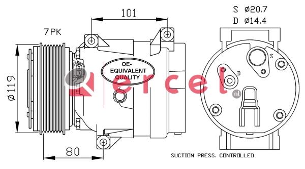 Airco compressor REK 096
