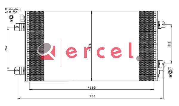 Airco condensor REC 547