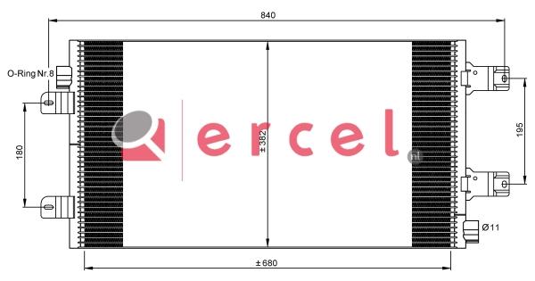 Airco condensor REC 563