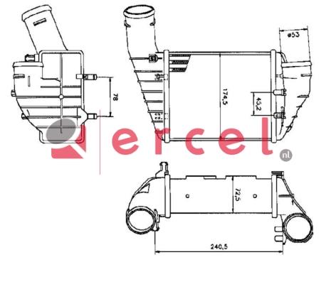 Interkoeler AUI 448