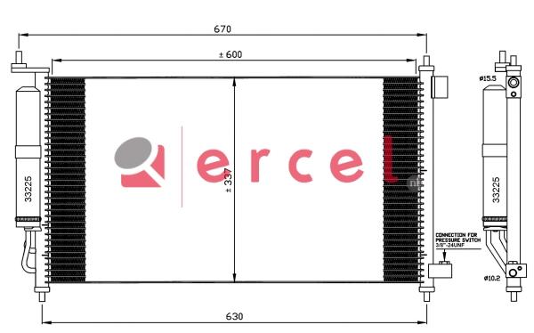 Airco condensor NIC 508