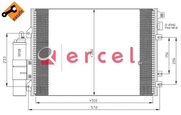 Airco condensor REC 545