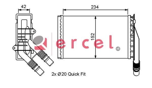 Kachelradiateur REH 268