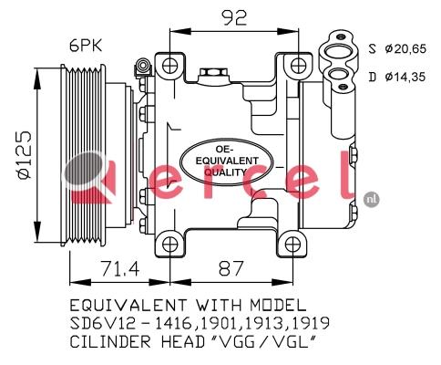 Airco compressor REK 046