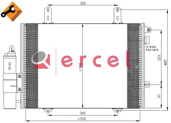 Airco condensor REC 572
