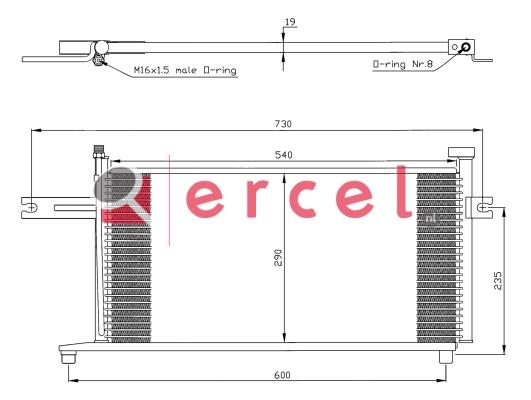 Airco condensor NIC 560