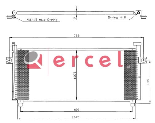 Airco condensor NIC 528