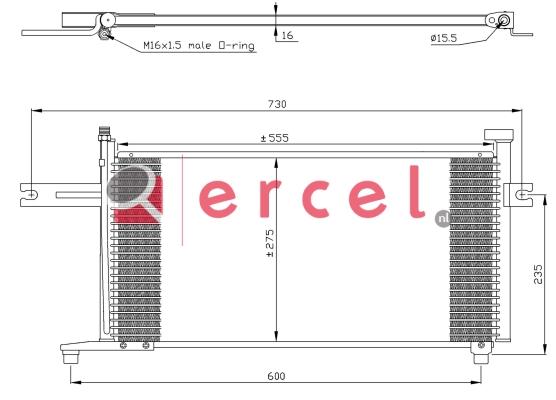 Airco condensor NIC 546