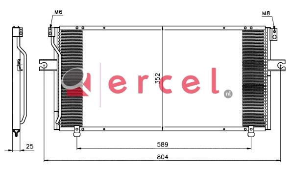 Airco condensor NIC 516