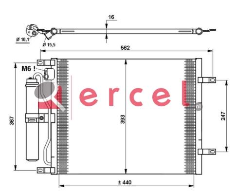 Airco condensor NIC 525