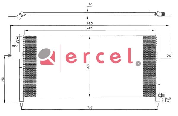 Airco condensor NIC 570
