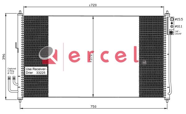 Airco condensor NIC 521