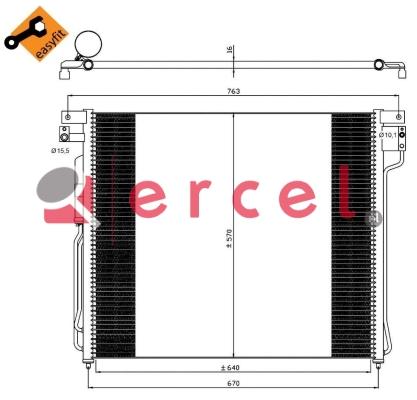 Airco condensor NIC 501