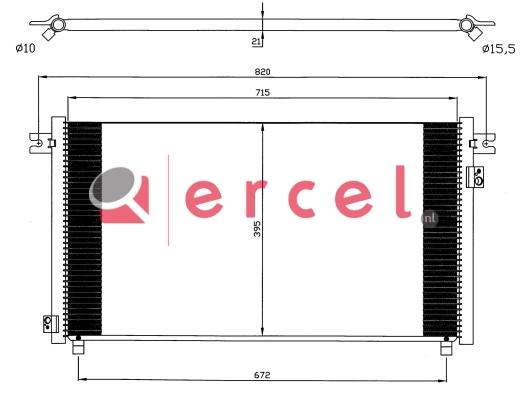 Airco condensor NIC 517