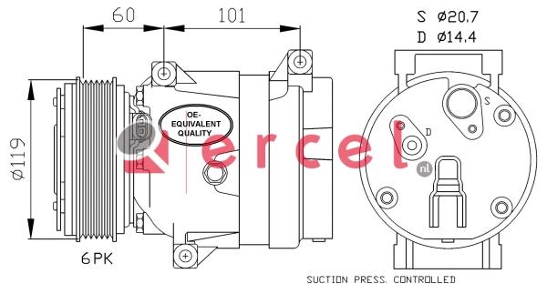 Airco compressor REK 010