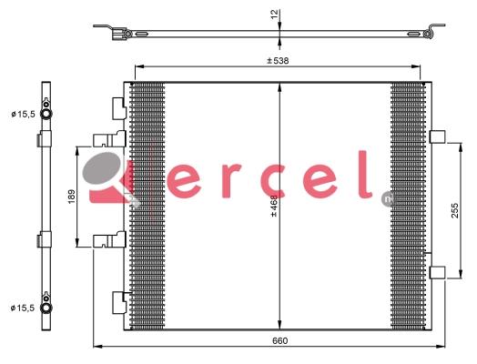 Airco condensor REC 579