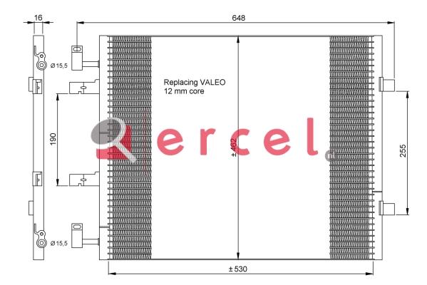 Airco condensor REC 551