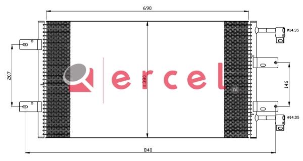 Airco condensor REC 541