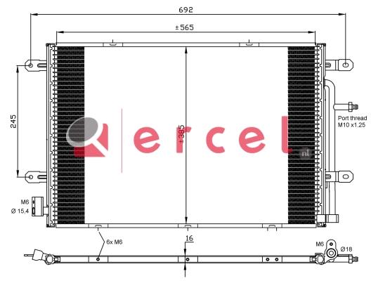 Airco condensor AUC 568