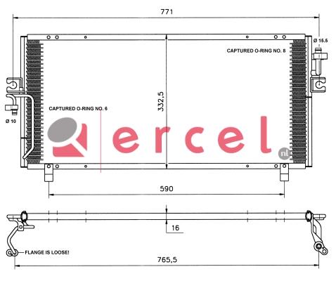 Airco condensor NIC 524