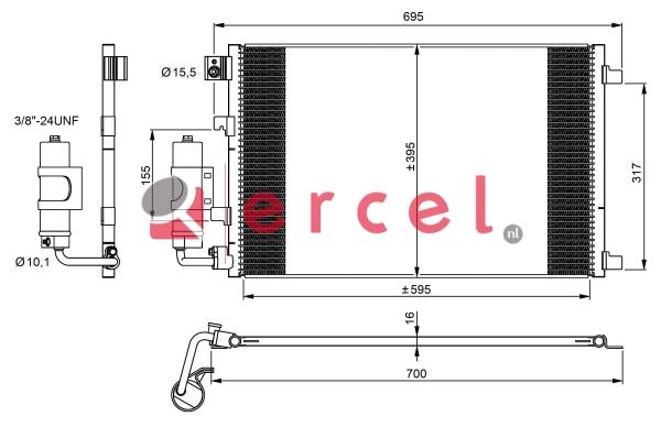 Airco condensor NIC 515