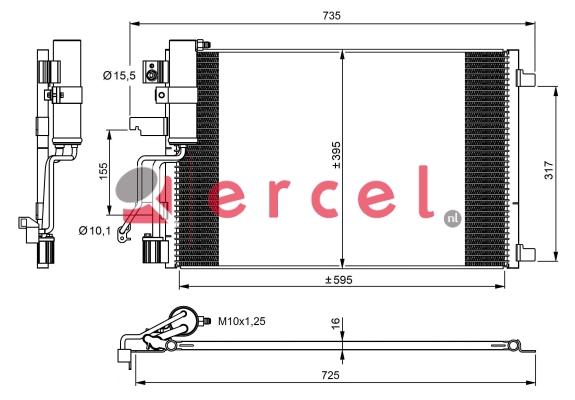 Airco condensor NIC 580