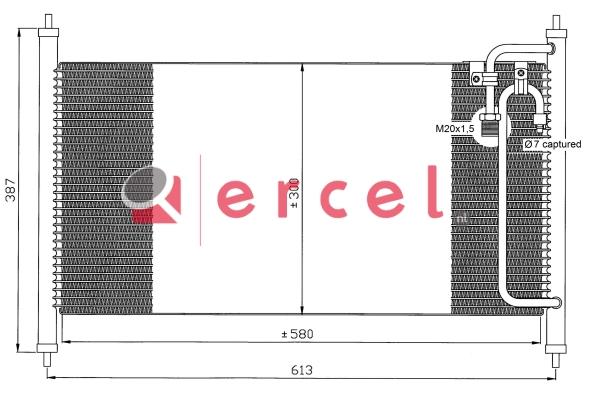 Airco condensor NIC 540