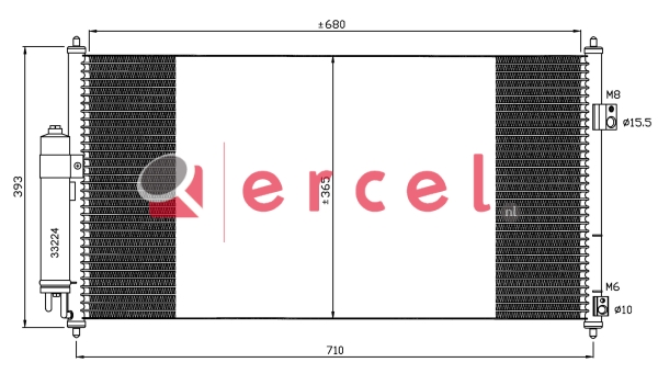 Airco condensor NIC 507